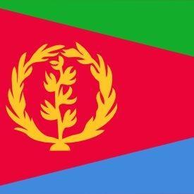Eritreas flagga.